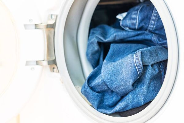 jeans in a washing machine