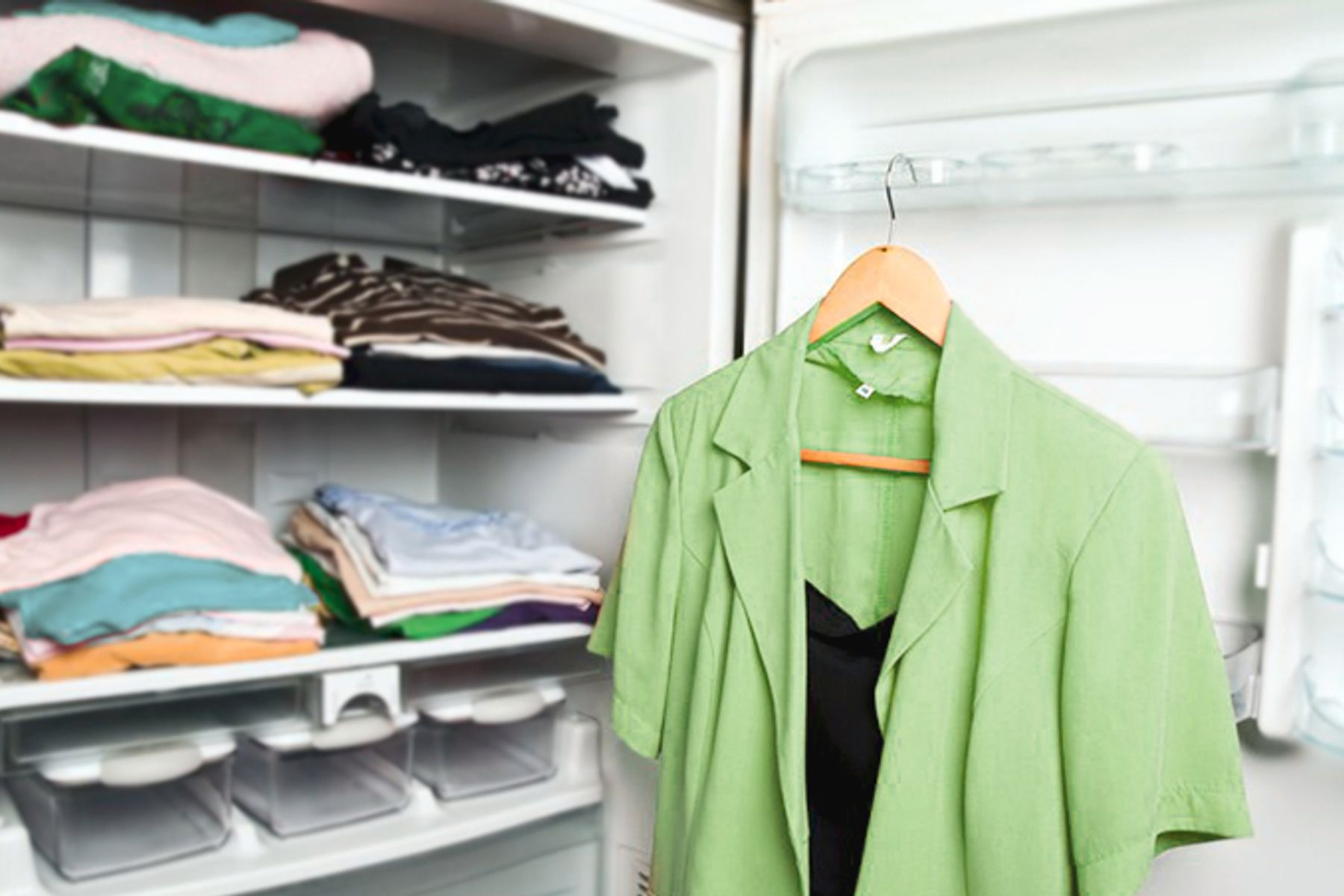 Image of organized clothes
