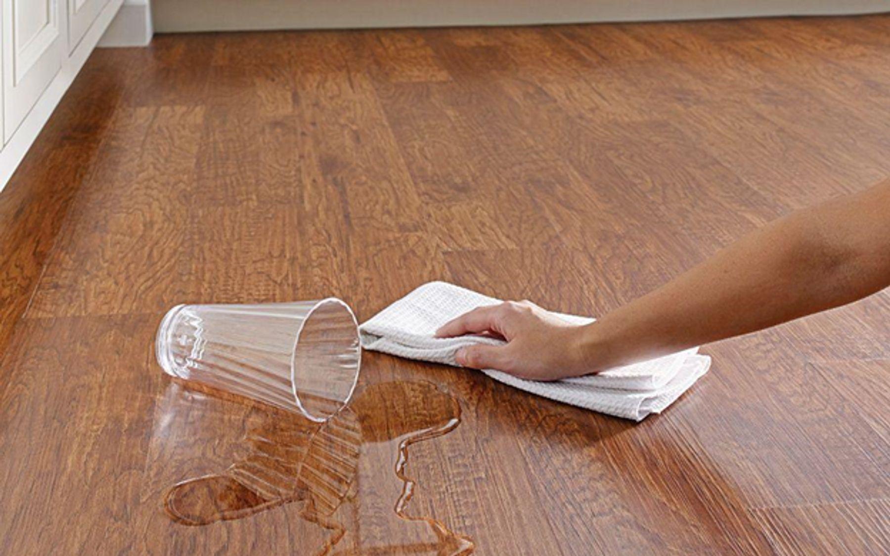 Step 1: slippery floor glass water