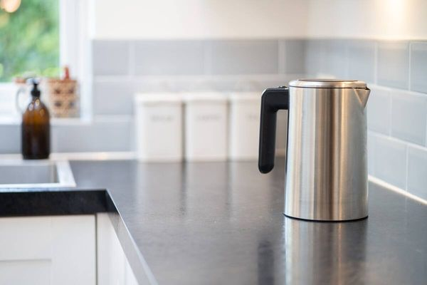 A kettle on a kitchen counter