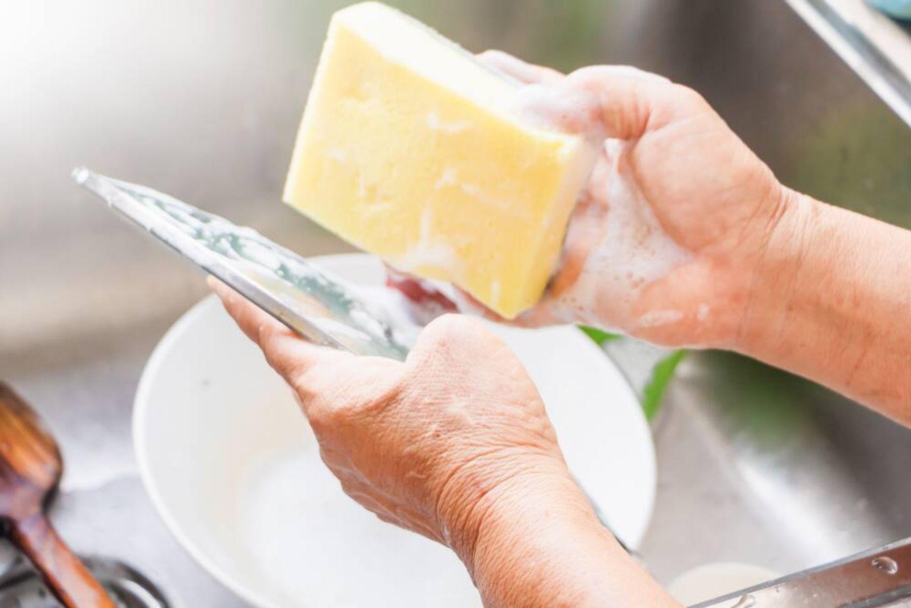 Bahaya spons cuci piring yang kotor