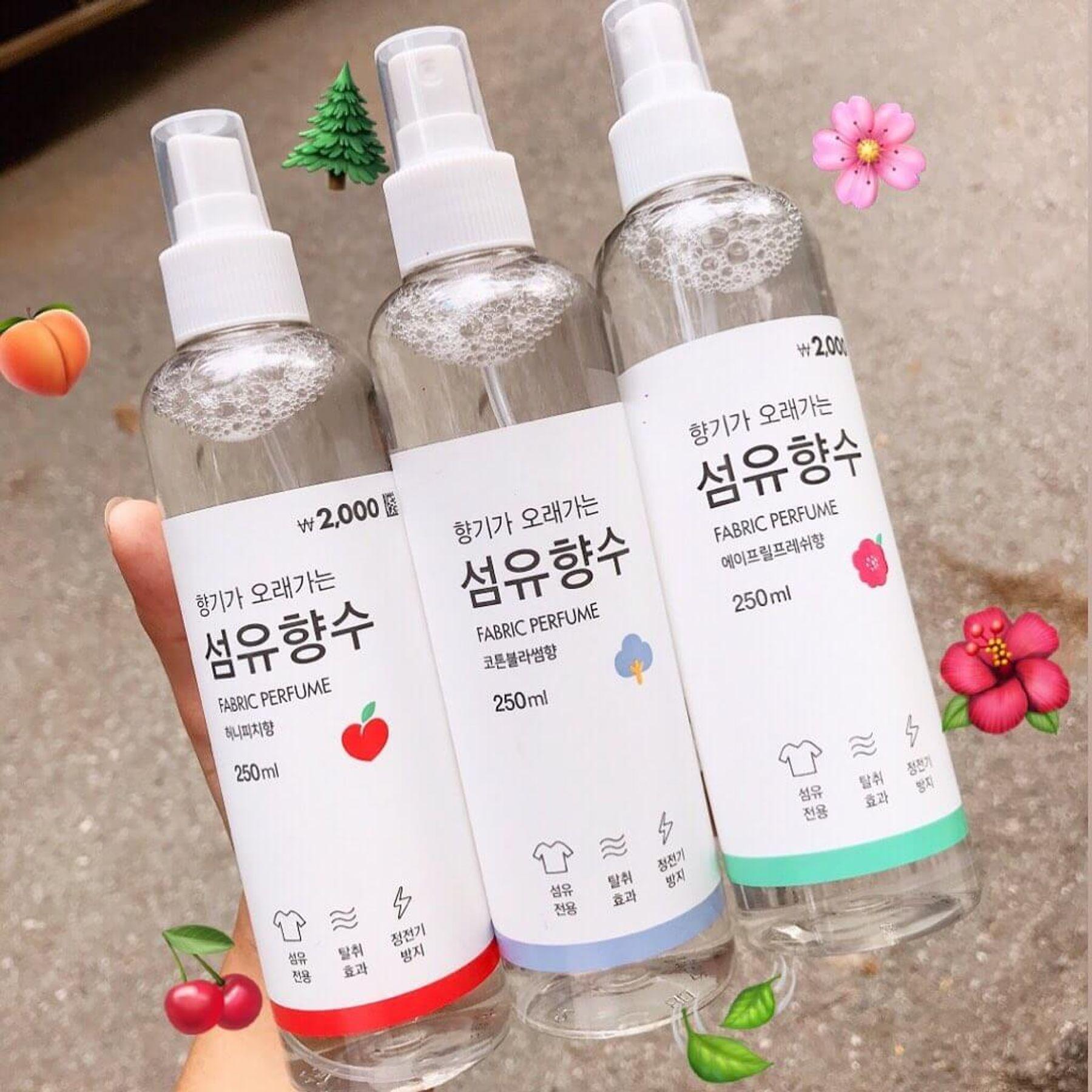 Xịt thơm quần áo Fabric Perfume nội địa Hàn Quốc