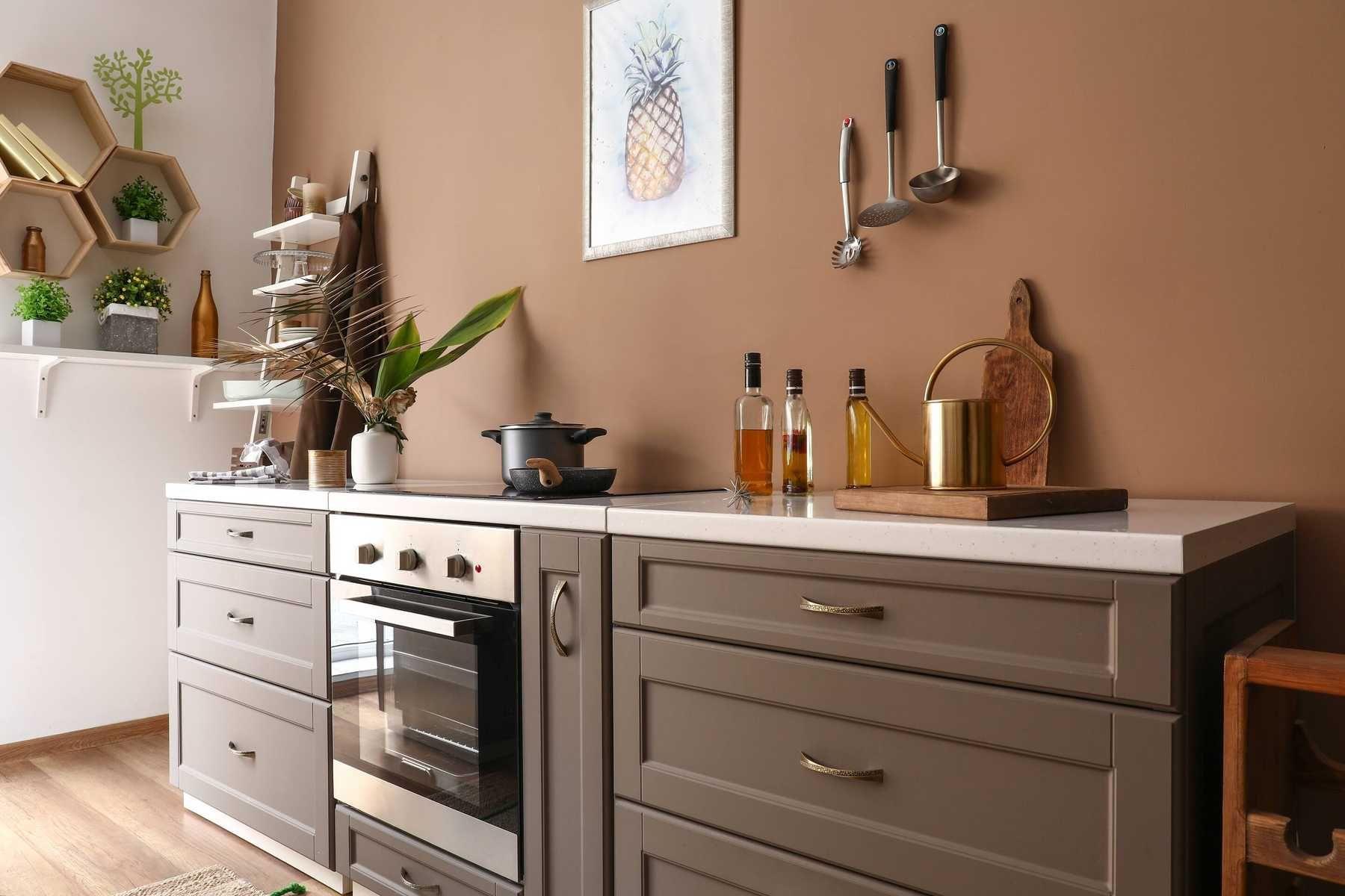 Trang trí cây xanh trong nhà bếp