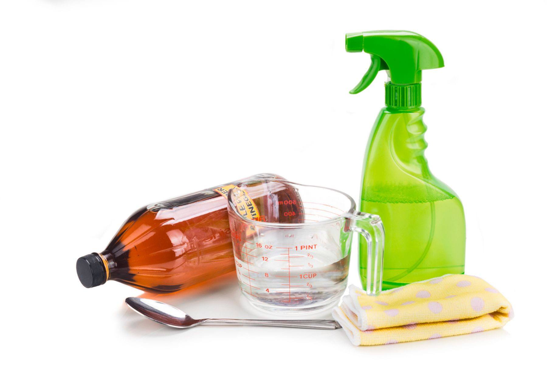 Image of common items needed for DIY cleaners
