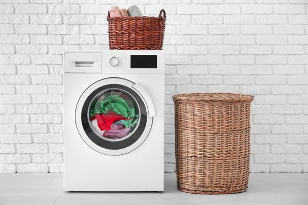 washing machine with basket