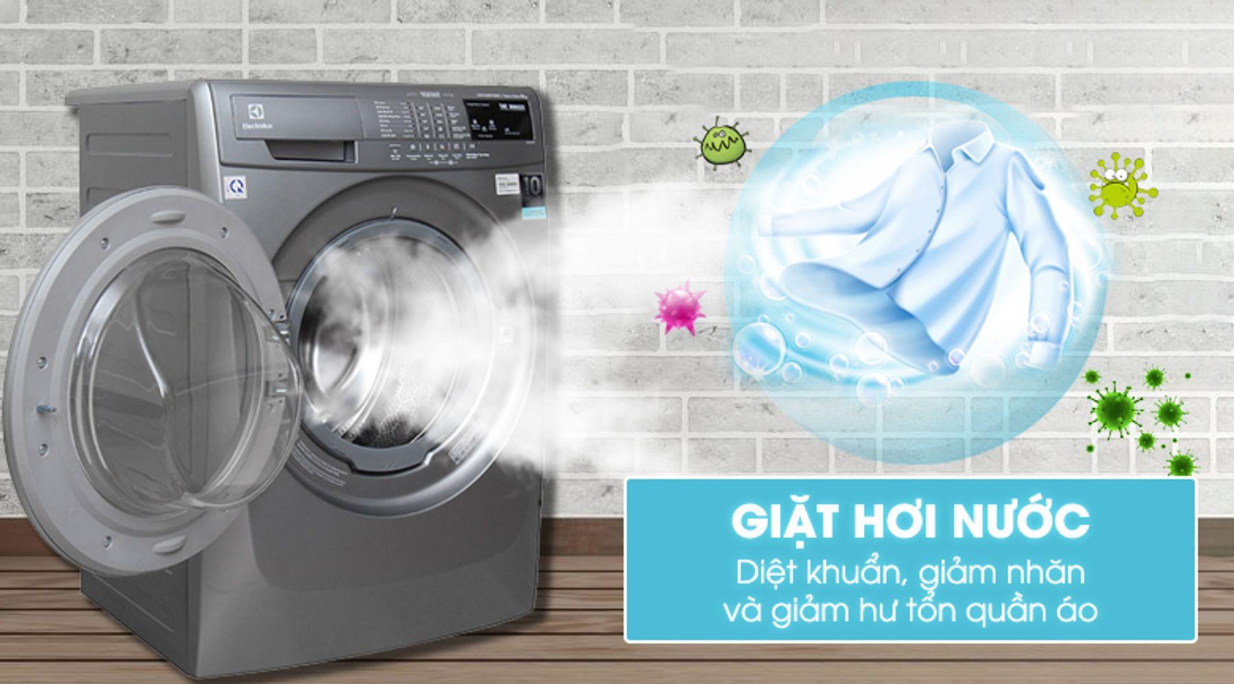 Giặt đồ bằng nước nóng, hơi nước là cách làm khô quần áo nhanh