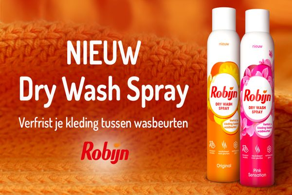 Robijn Dry Wash banner