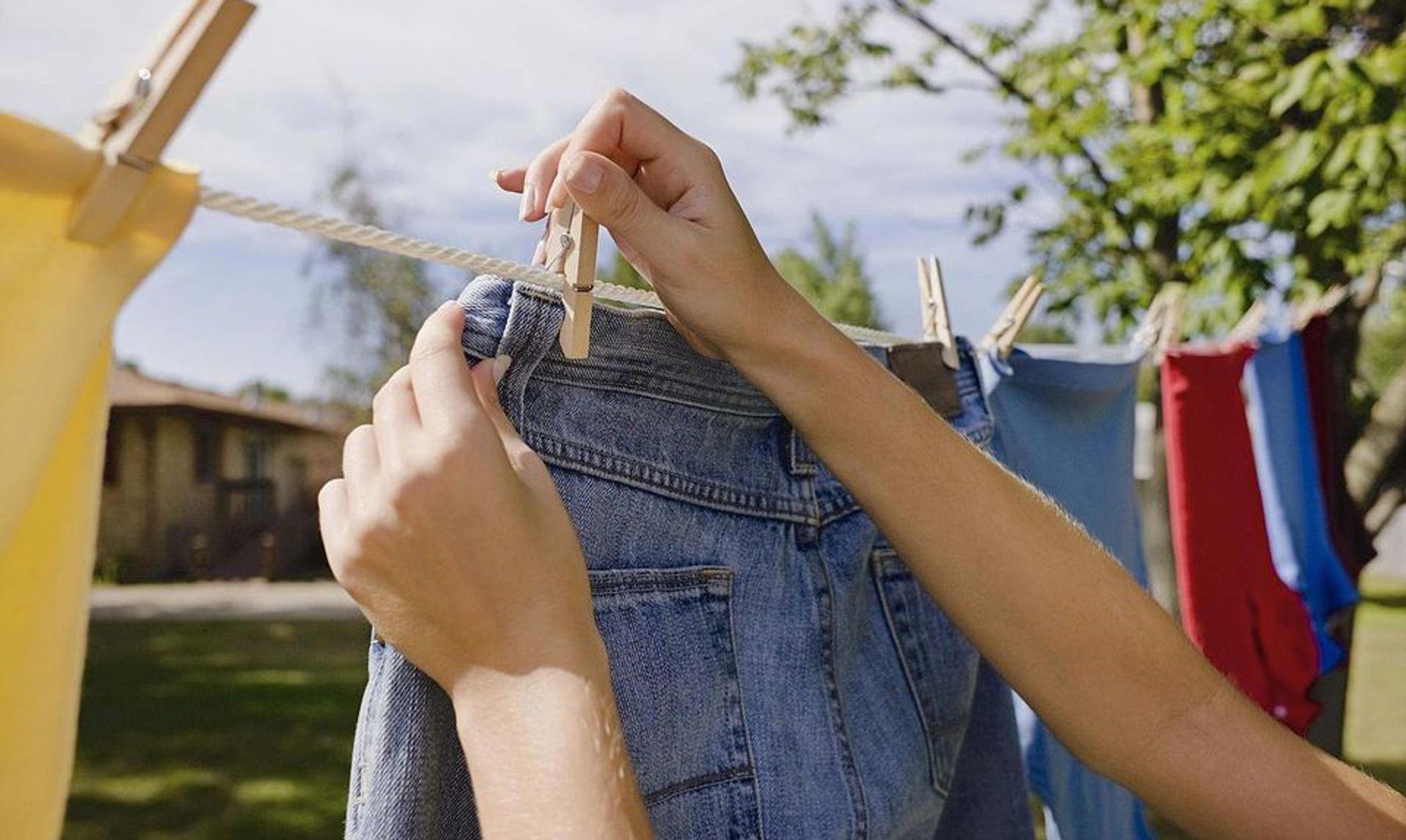 Phơi khô quần áo tự nhiên