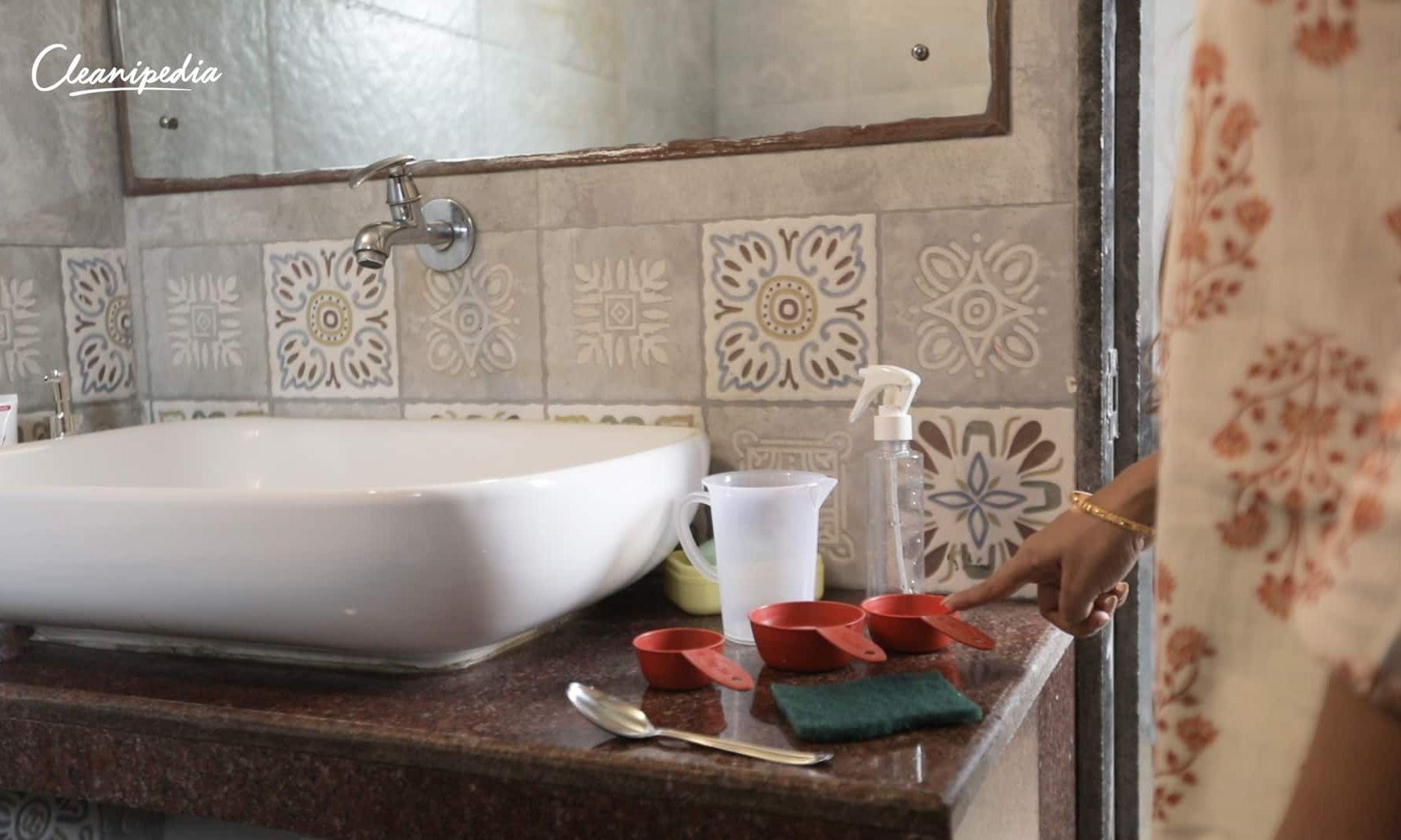 Hướng dẫn vệ sinh bồn rửa mặt theo vật liệu sứ, gỗ và đá hoa cương