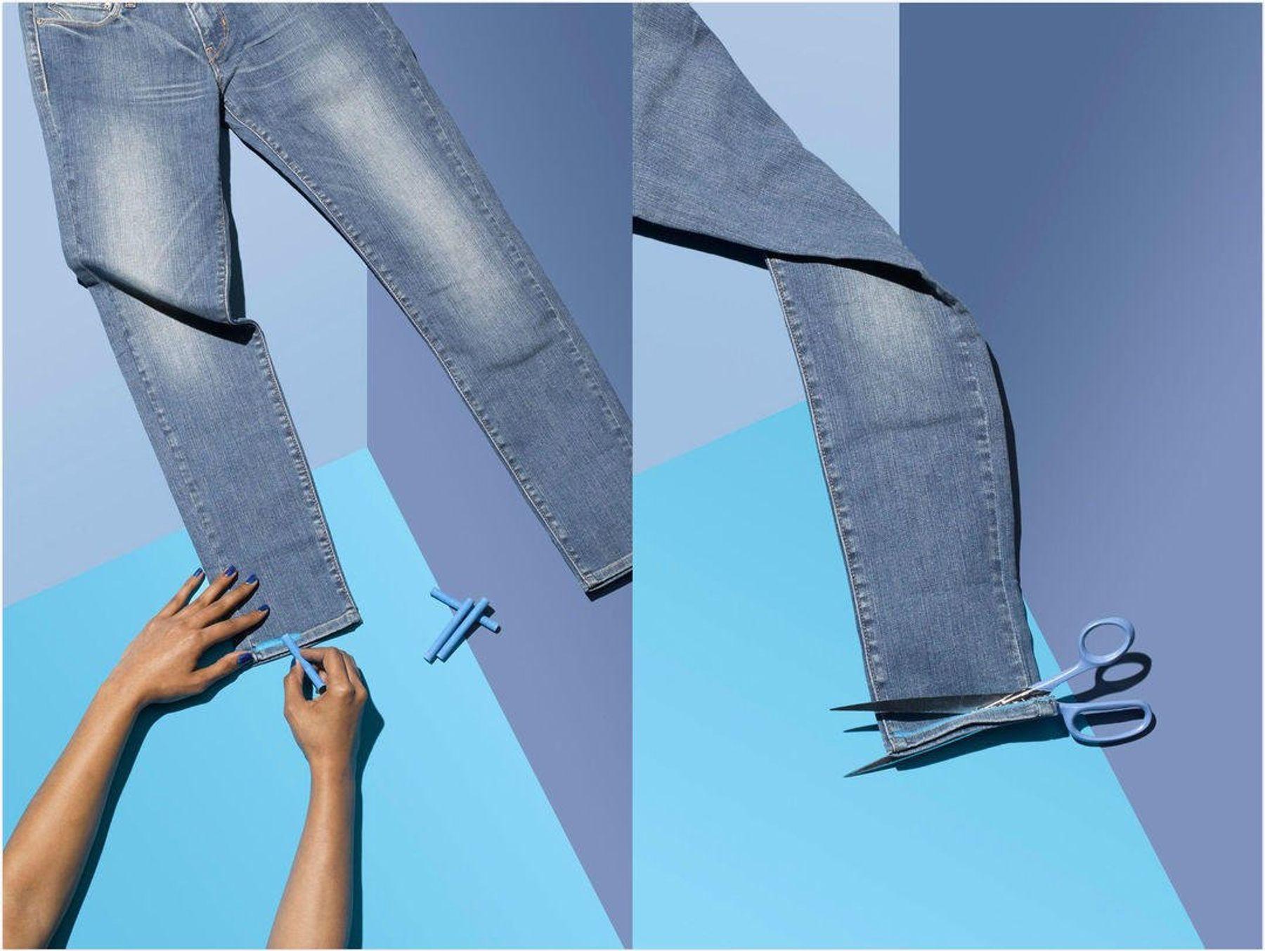Tái chế những chiếc quần ống rộng