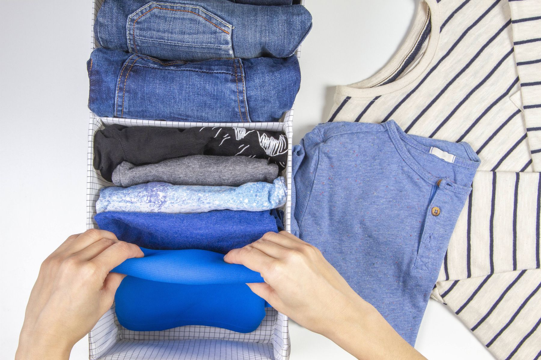 Marie Kondo folding method for clothes