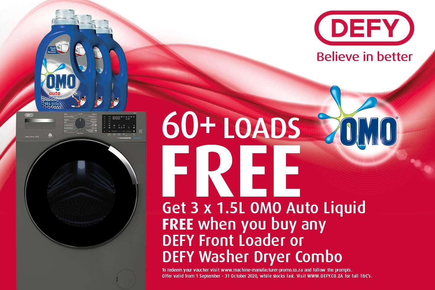 DEFY x OMO promo with details specific to promo