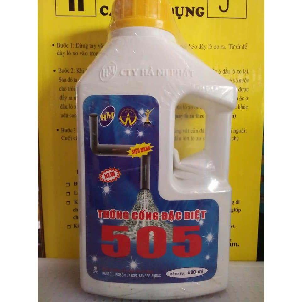 Sử dụng dung dịch nước thông cống