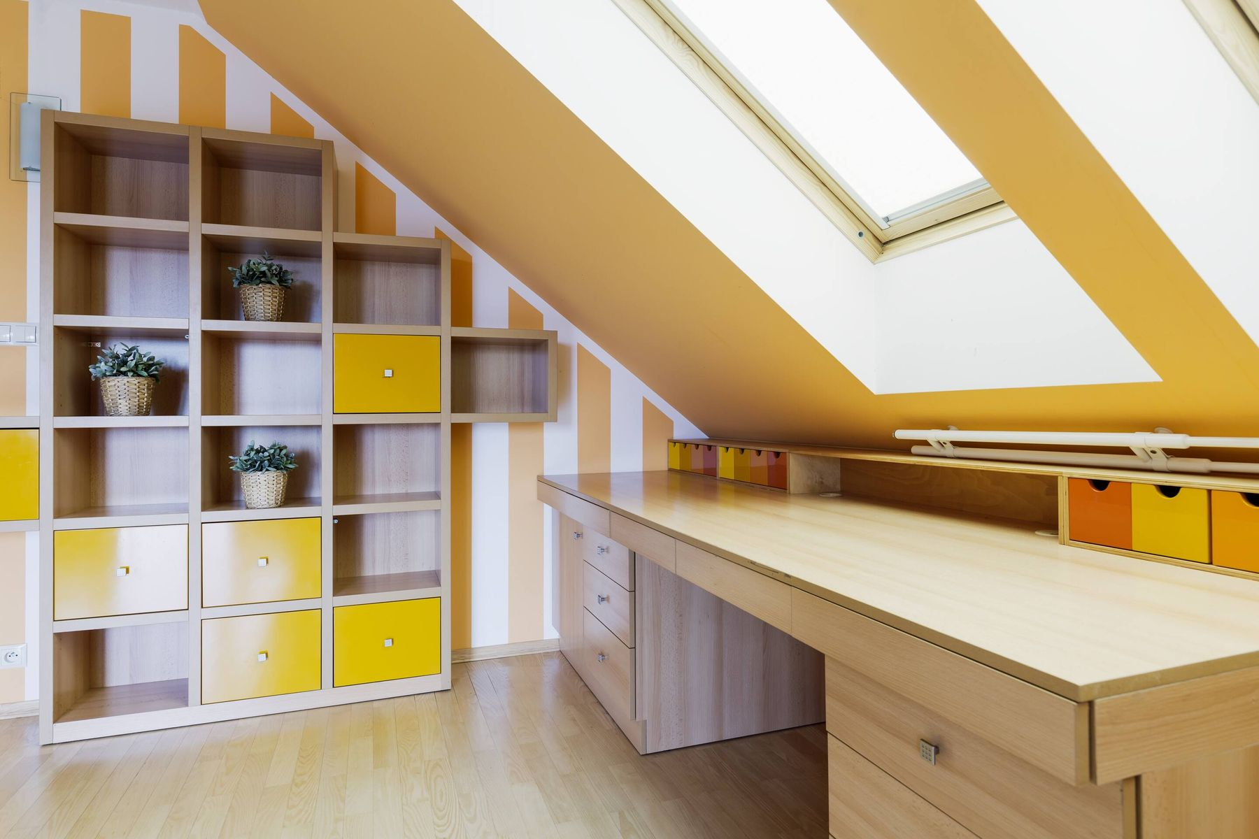 Loft shelving ideas for files and folders