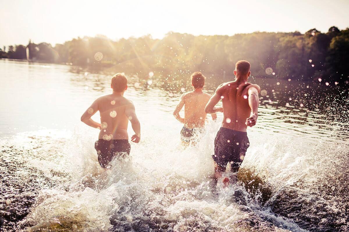 Wasser Sommer rennen see
