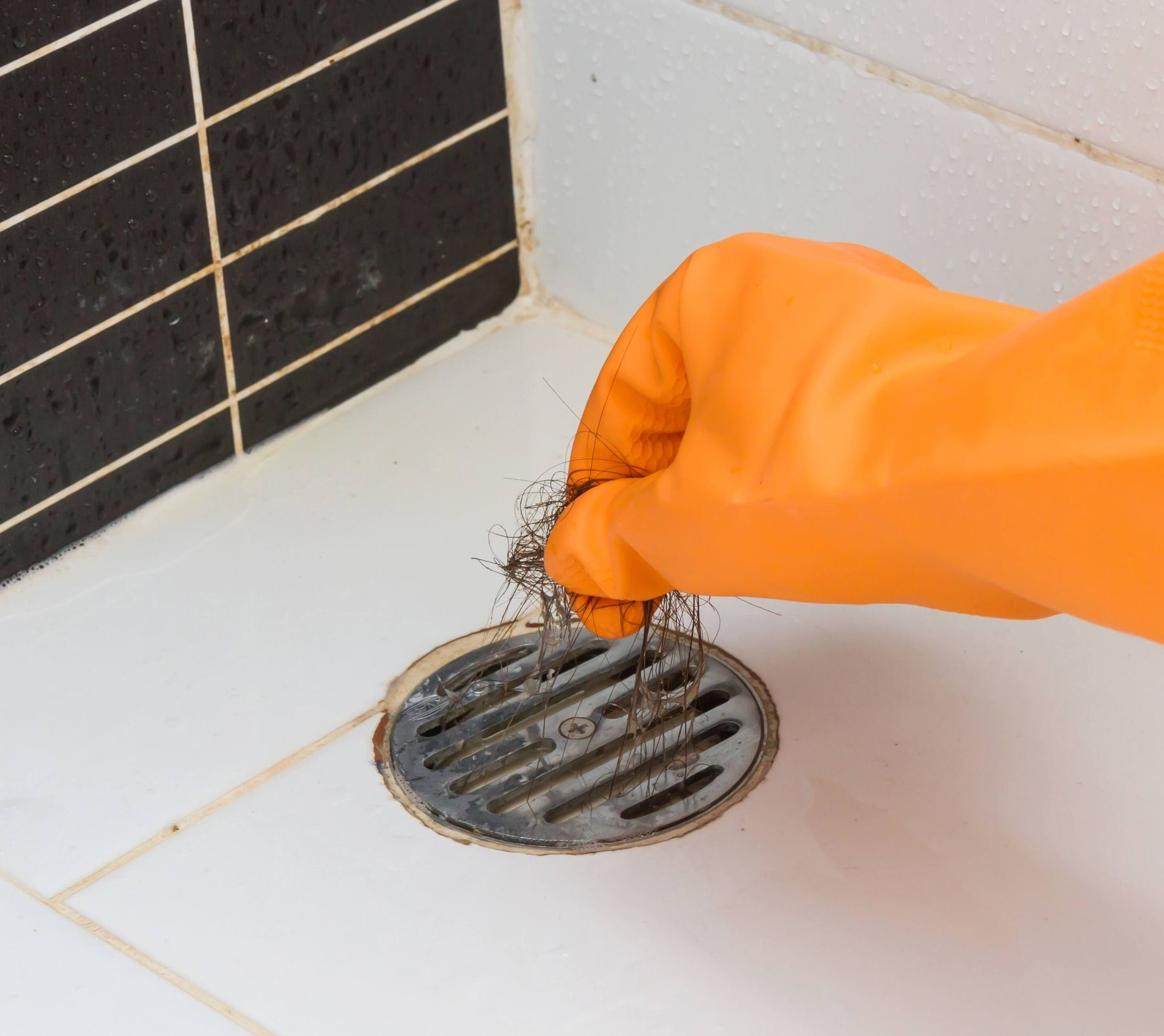 Get rid of hair & other dirt from the drain
