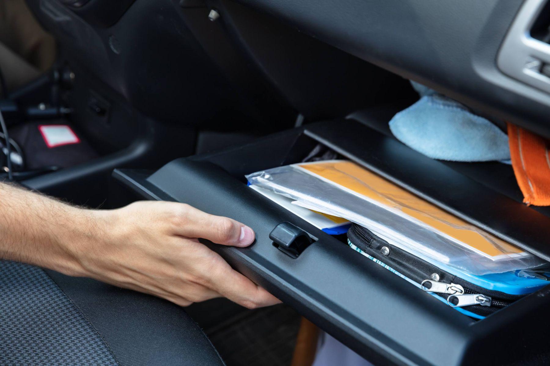 organized car glove box