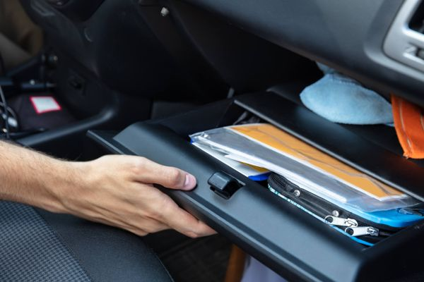 glove compartment of vehicle