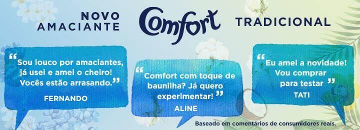Balões com diálogos de consumidores Comfort