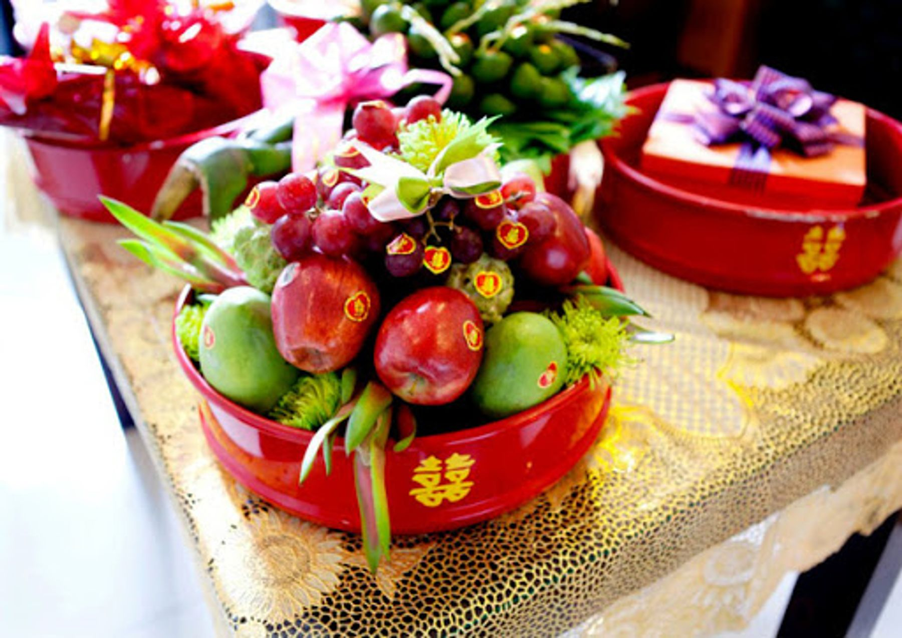 Step 7: Mâm quả trái cây sính lễ cưới hỏi