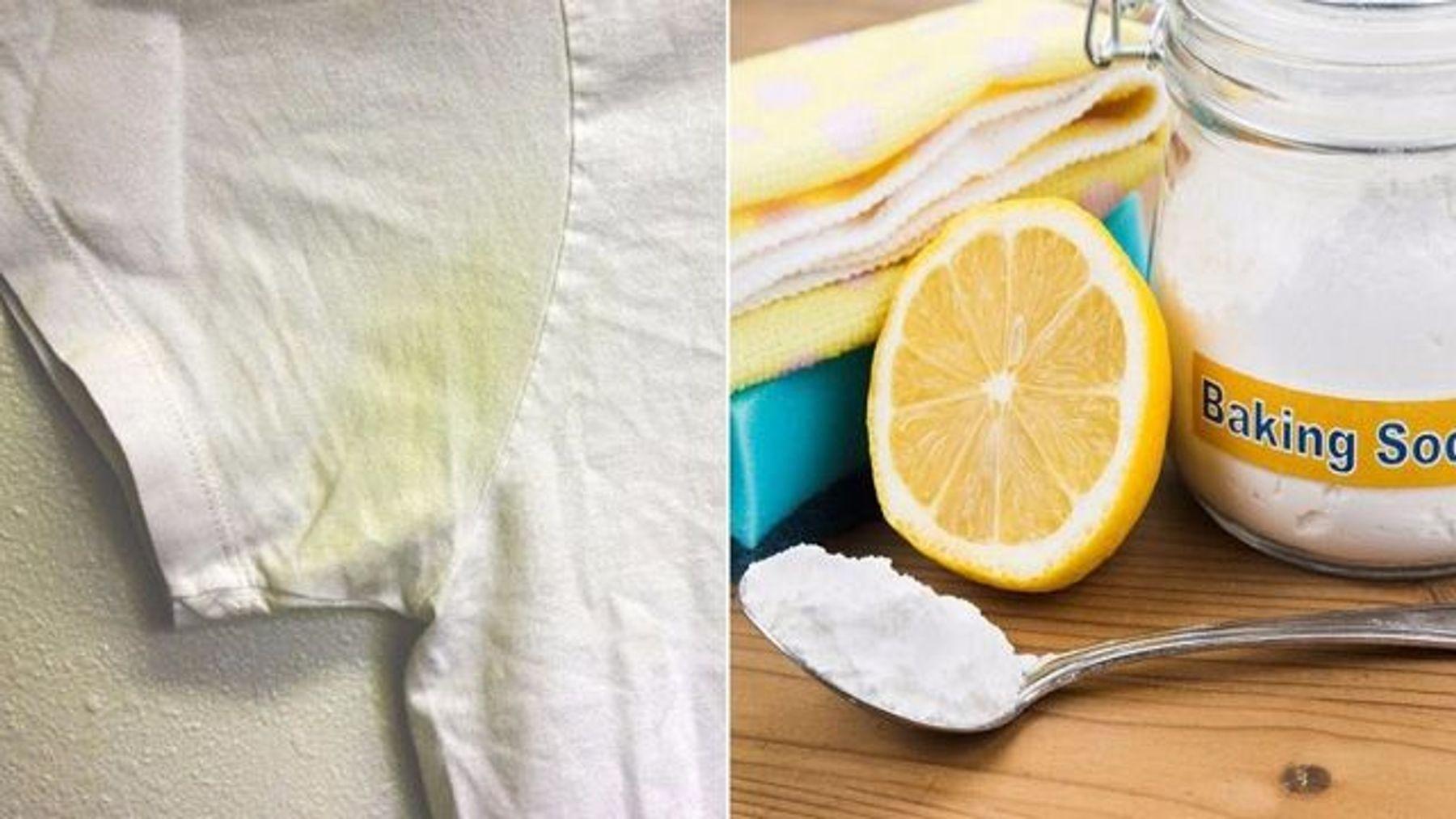 Cách tẩy áo trắng bị ố vàng bằng chanh tươi + baking soda