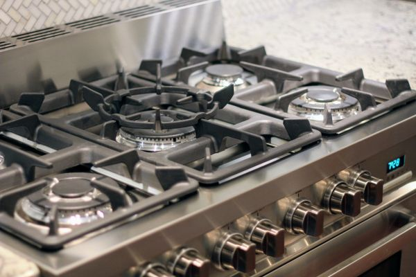 a clean stainless stove