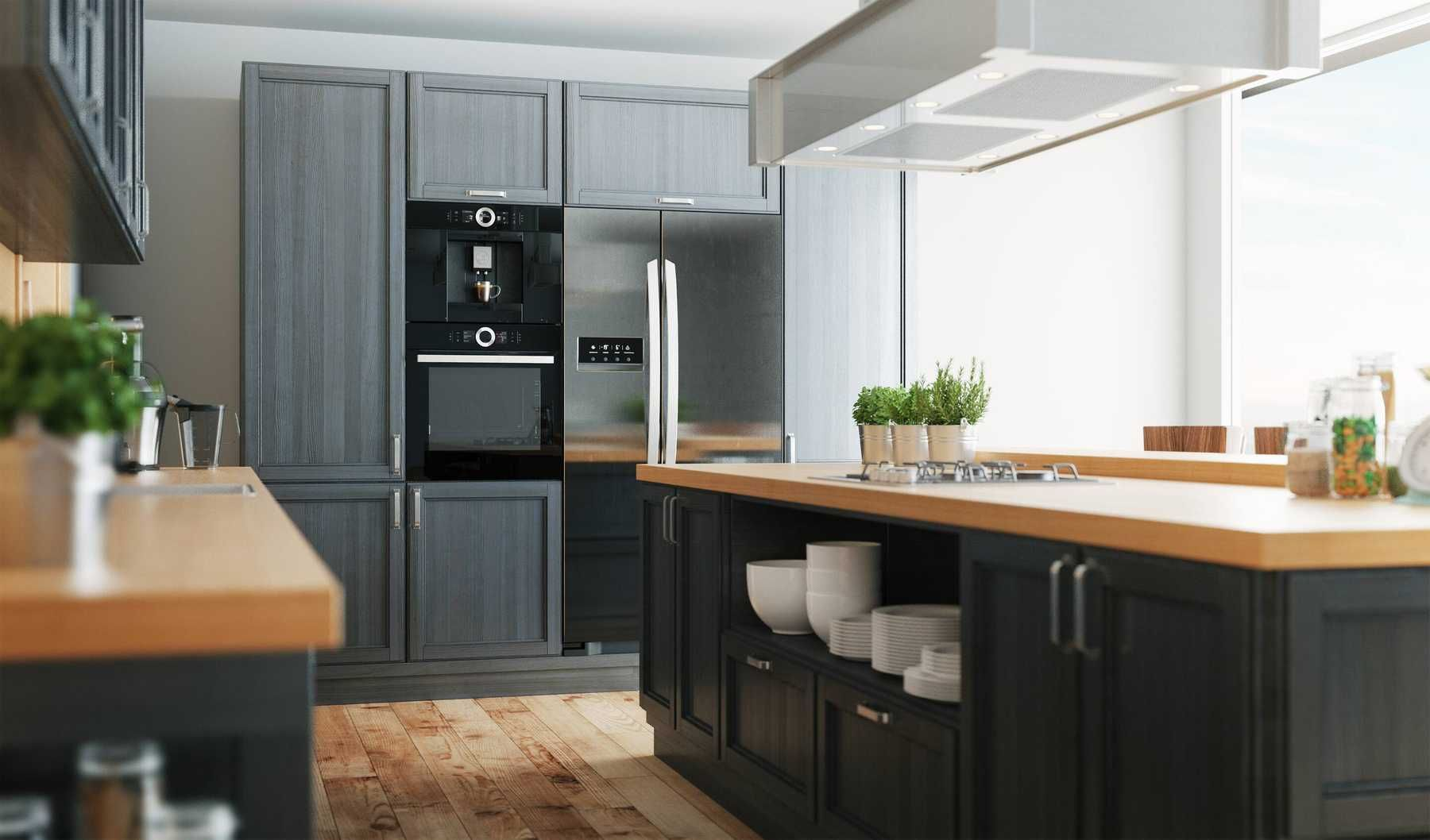 Trang trí nhà bếp với mẫu bàn ăn đối xứng lạ mắt