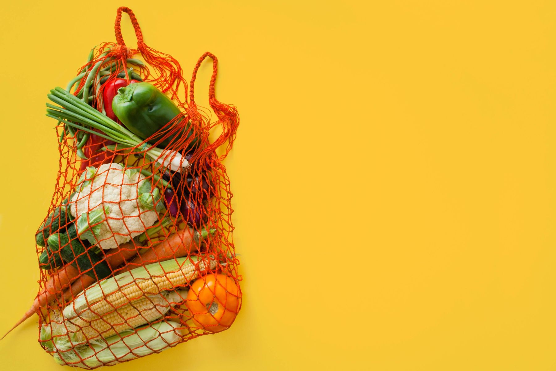 Vegetables in a netted bag