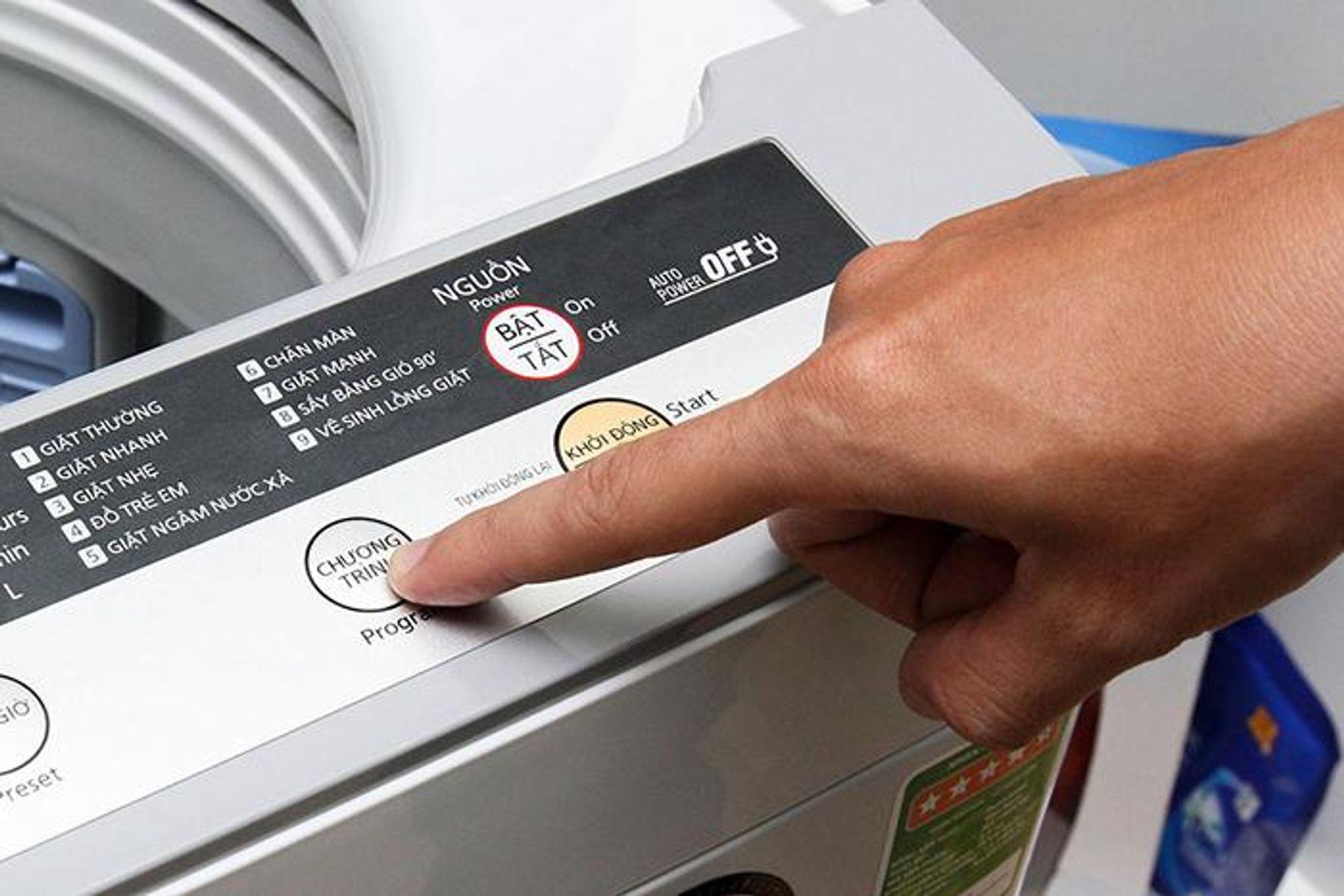 Chọn sai chức năng giặt ga trải giường