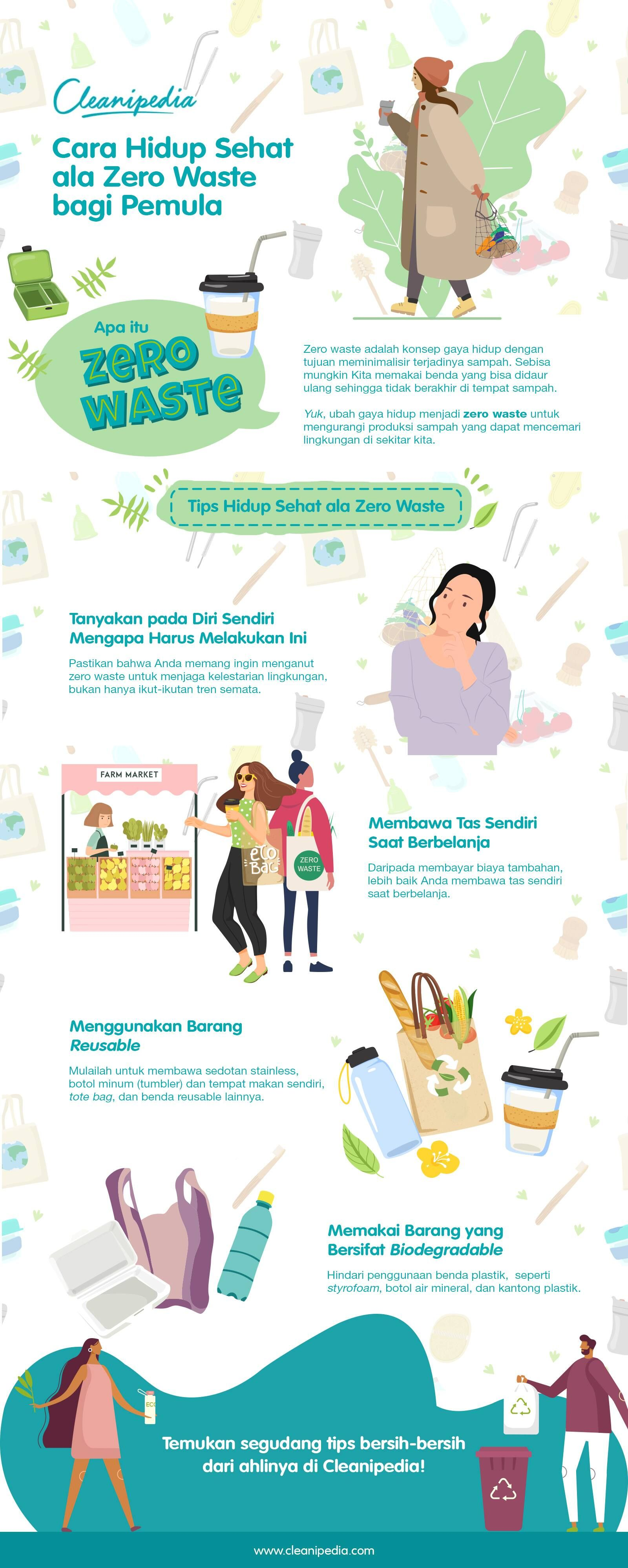 cara hidup sehat ala zero waste bagi pemula