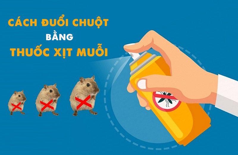Dùng thuốc xịt muỗi đuổi chuột
