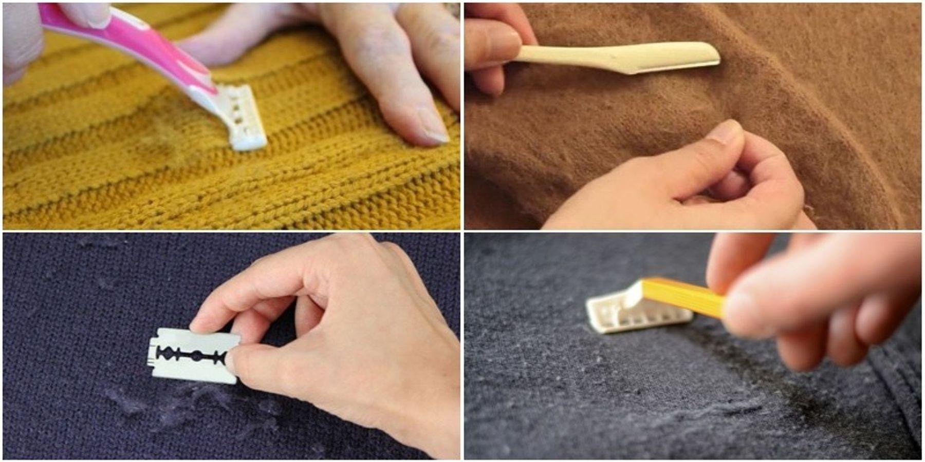 Dùng dao cạo giải quyết xù lông quần áo