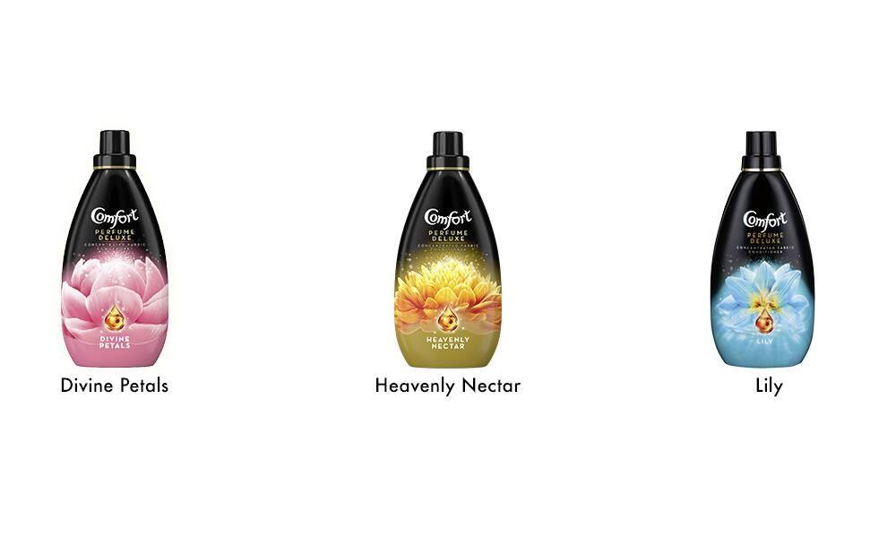 3 x Comfort Bottle Divine Petals Heavenly Nectar Lily