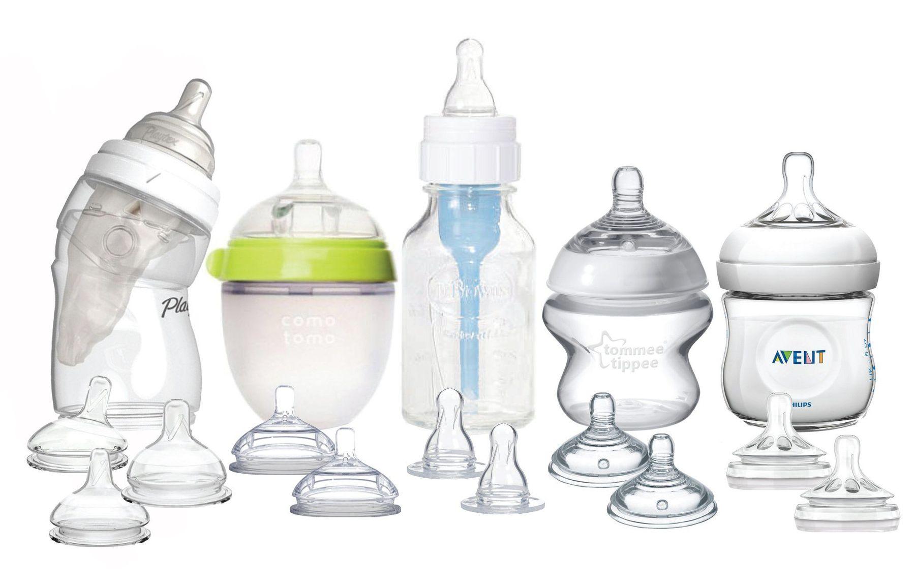 Các loại hình dáng bình sữa cho trẻ sơ sinh