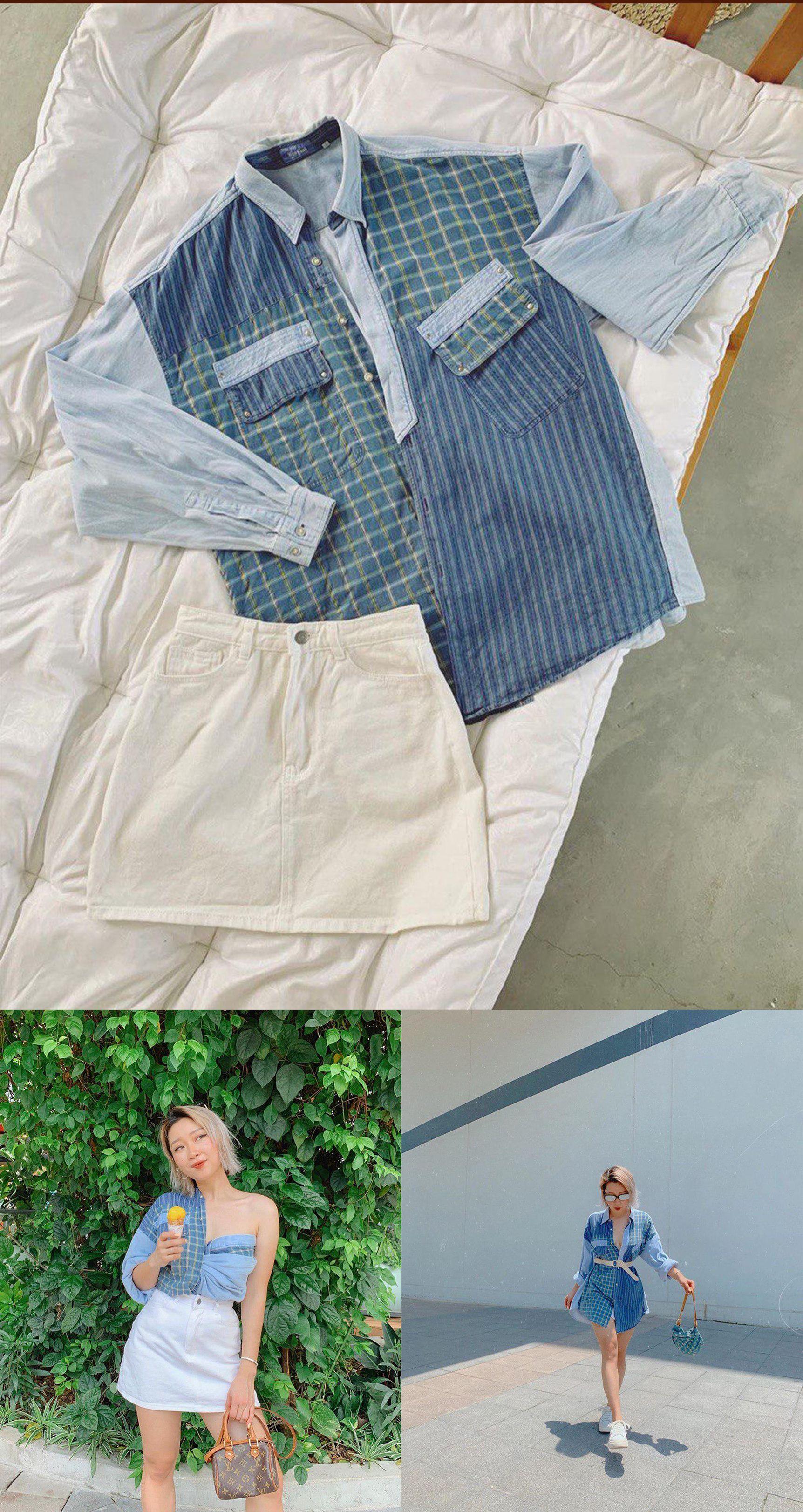 Tái chế quần áo cũ với đầm, váy