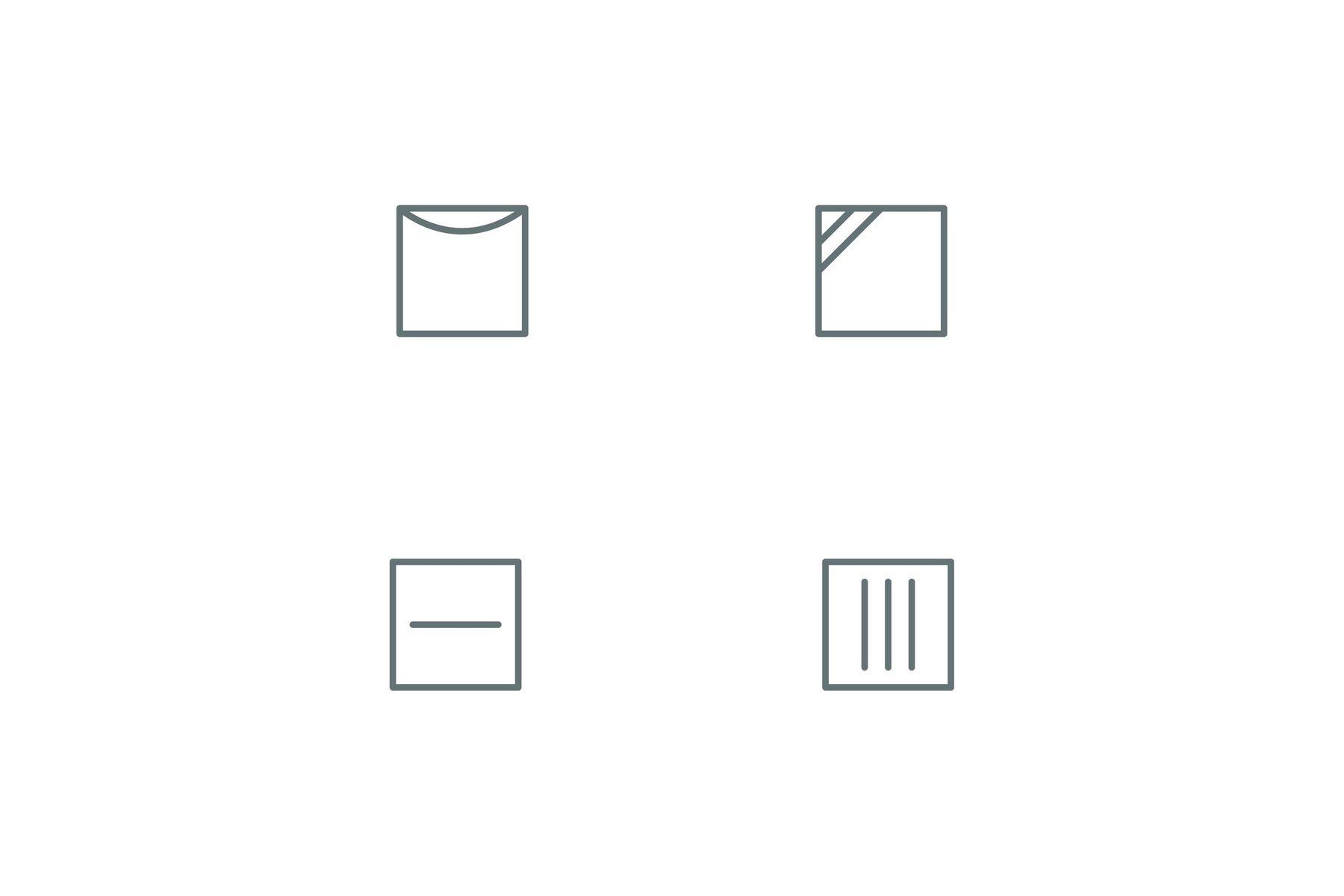 Line drying symbols