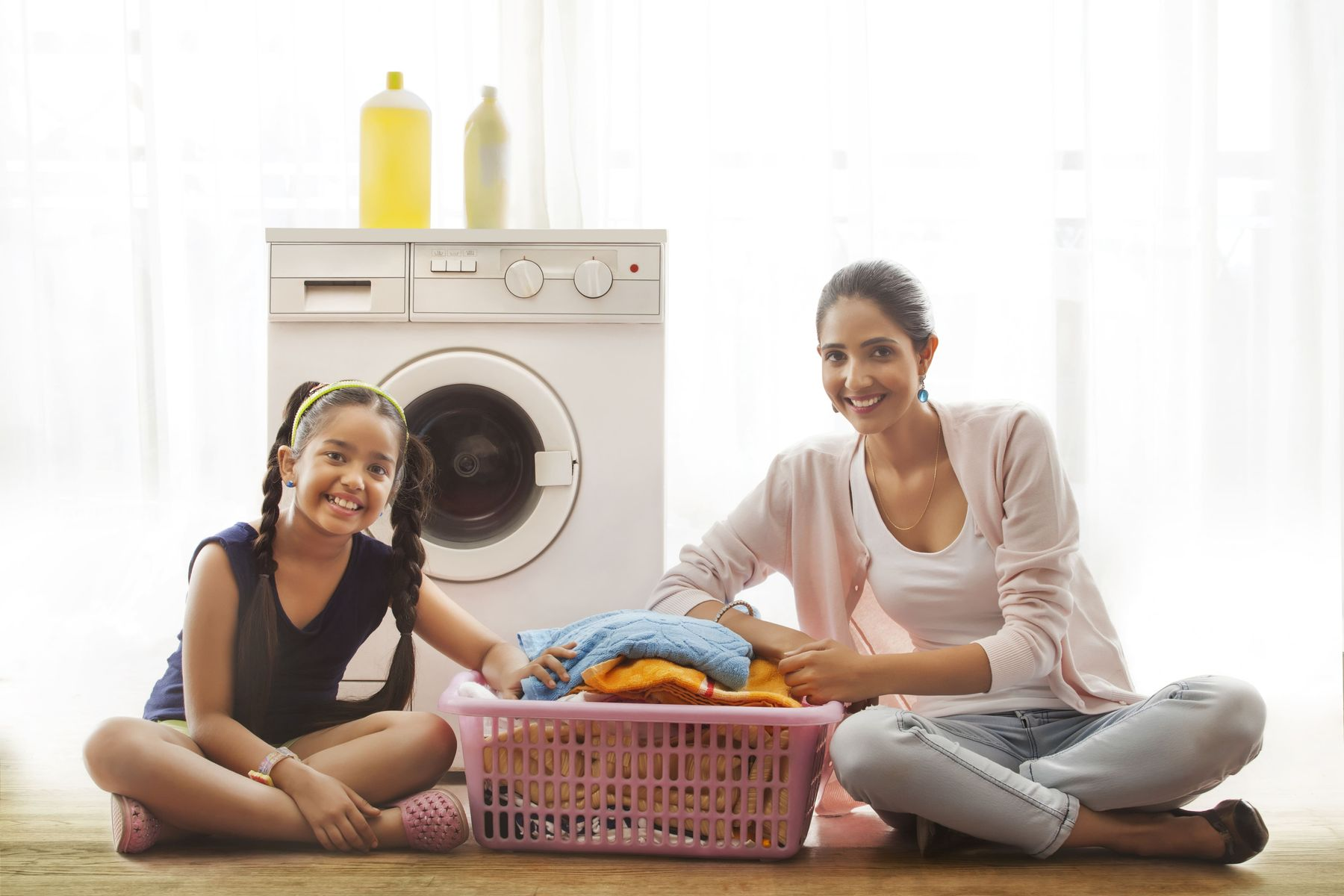 Steps to get kids involved in laundry jobs