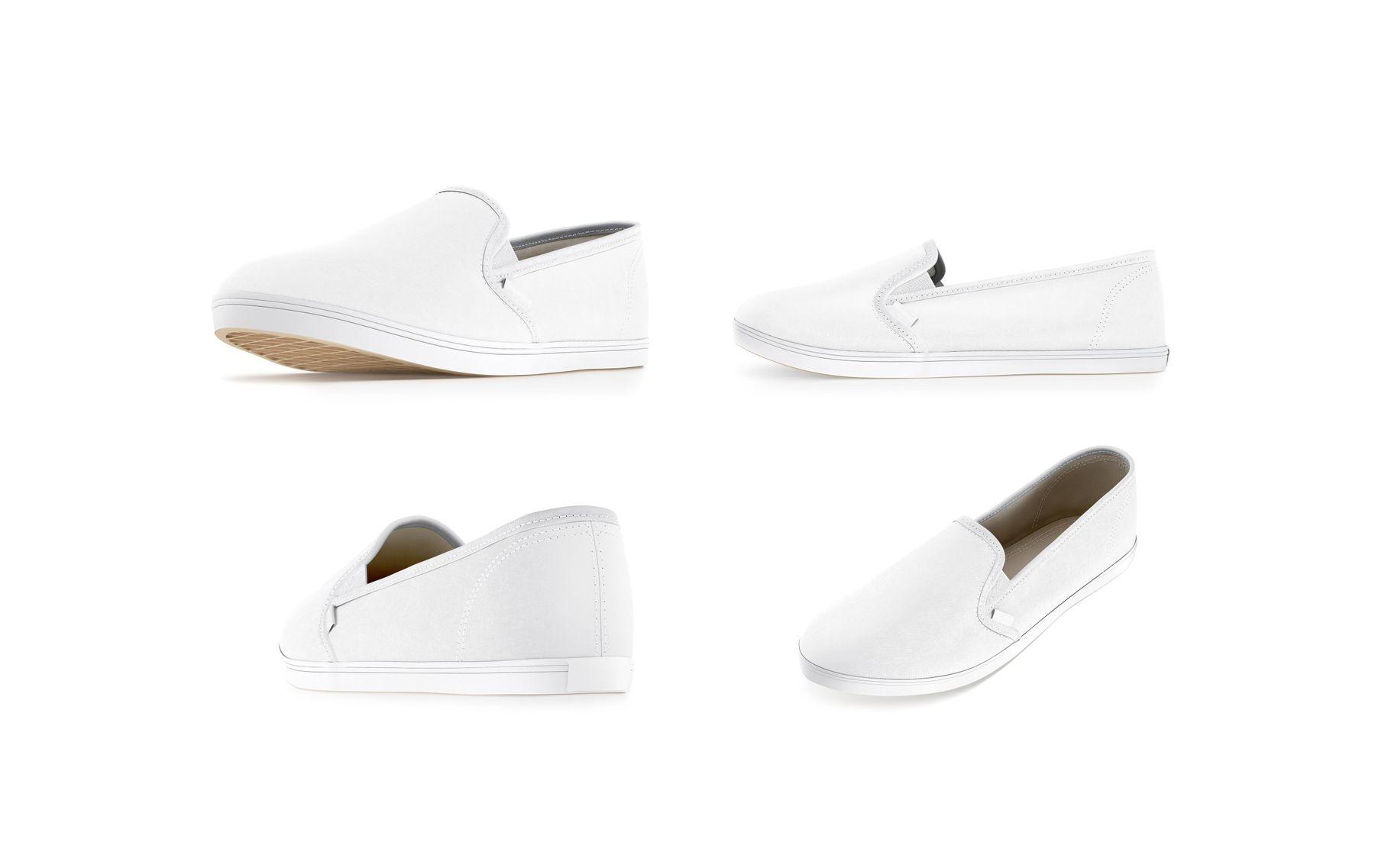giặt giày slip on trắng mùa mưa