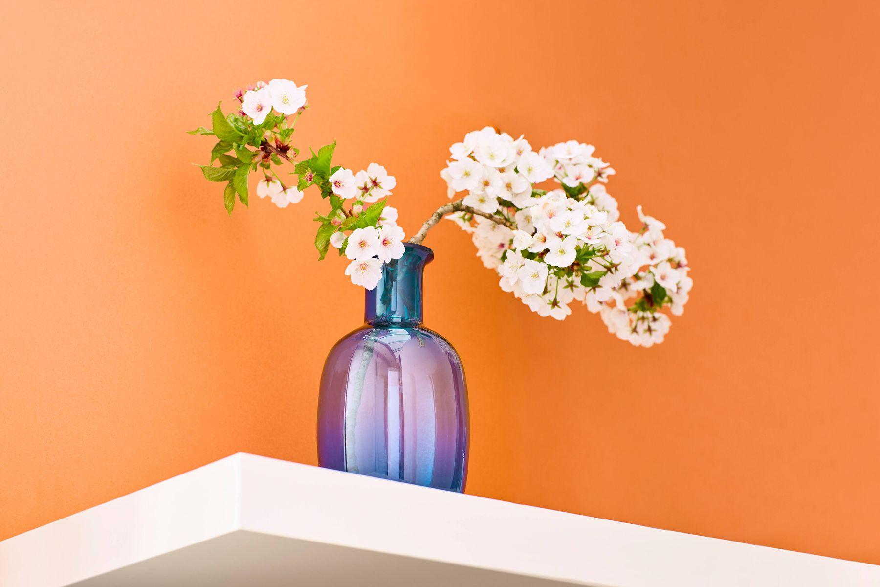 glass jar with a flower