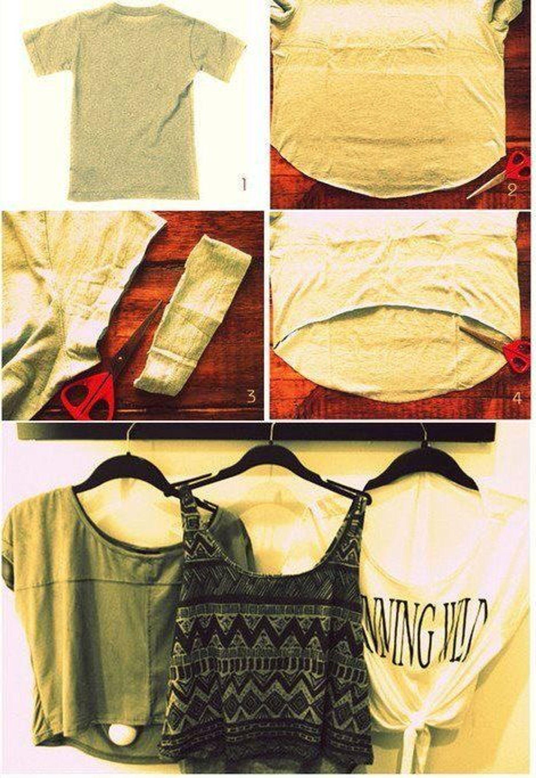 Tái chế áo thun cũ thành áo croptop