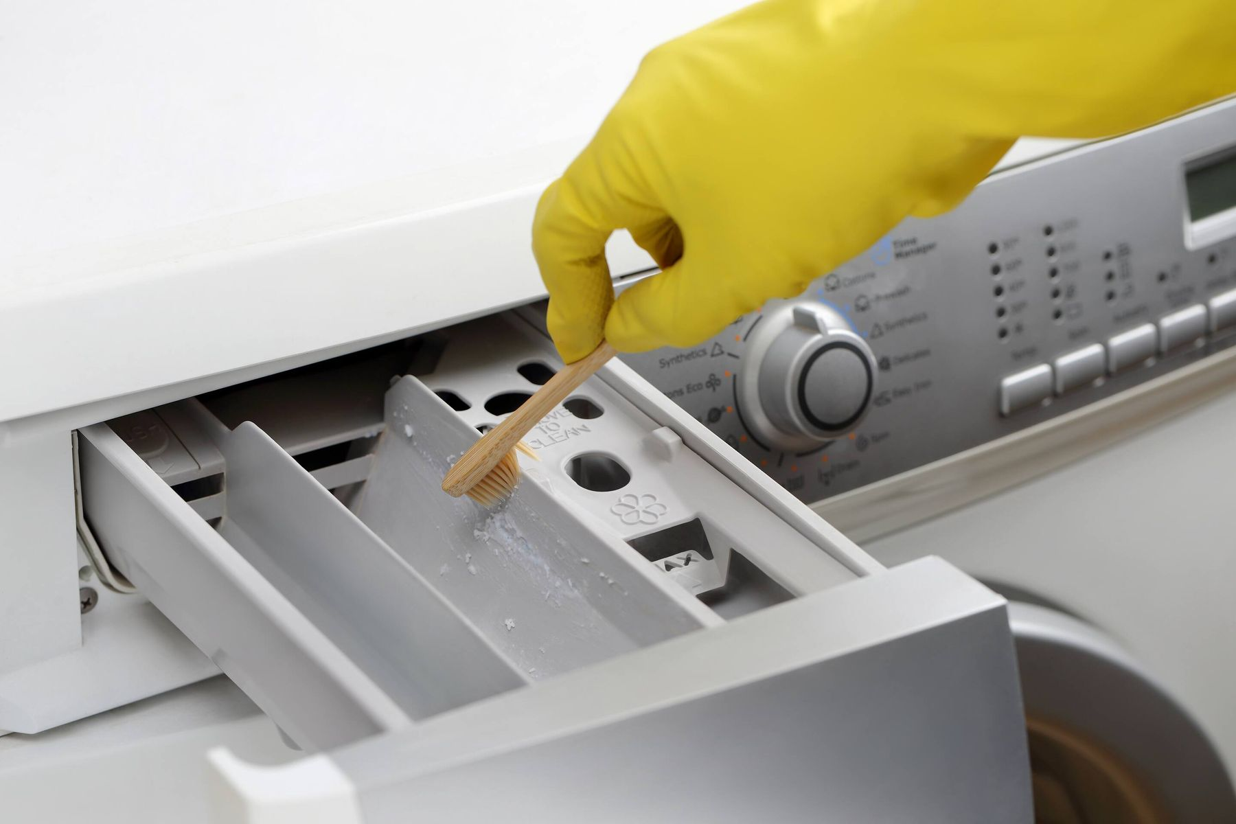 hand cleaning detergent drawer with toothbrush