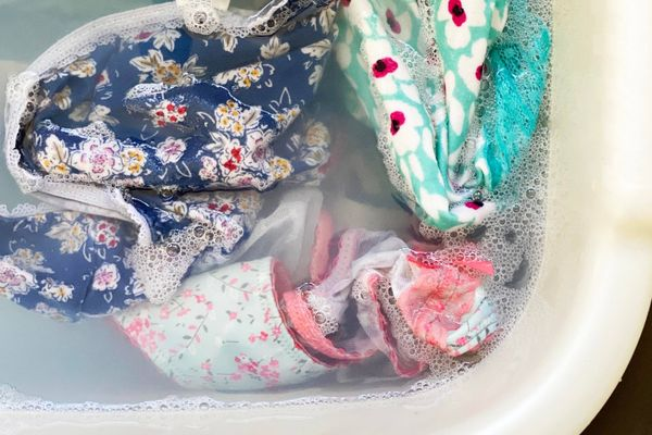 clothes soaking in water