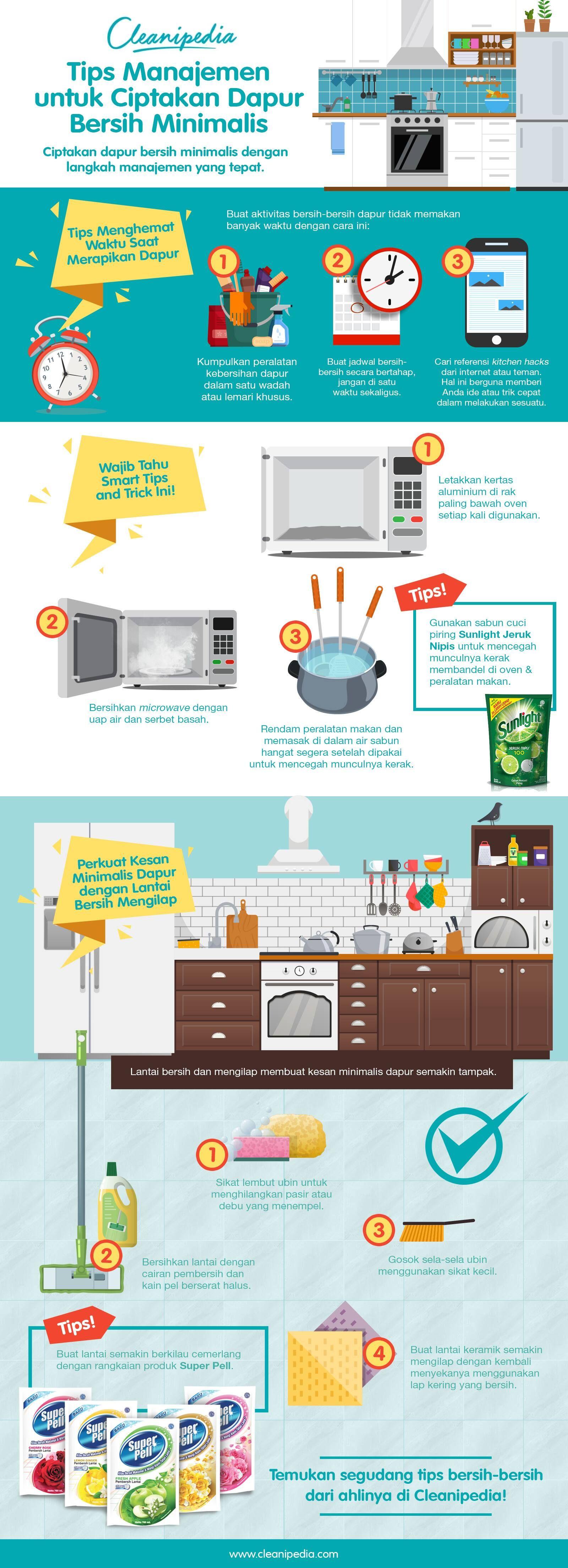 Ciptakan dapur bersih minimalis dengan langkah manajemen yang tinggi