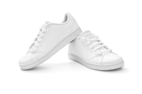pair of white trainers
