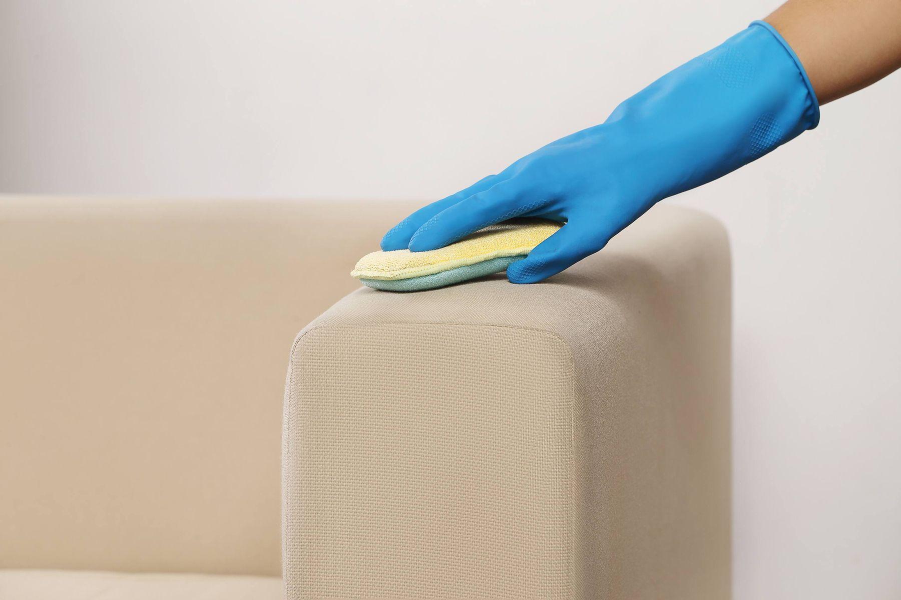 Dùng mút rửa chén chà sofa
