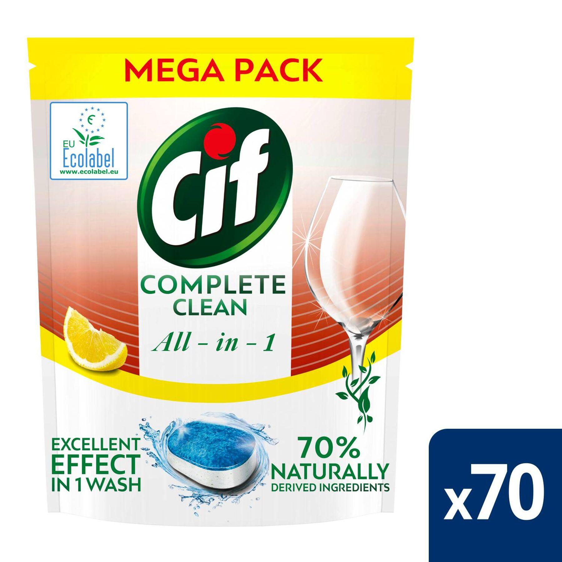 cif tablety do mycky complete clean 70 kusu s vuni citronu