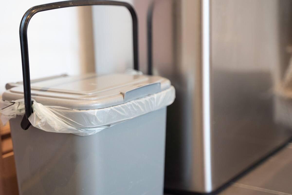 A small lidded bin