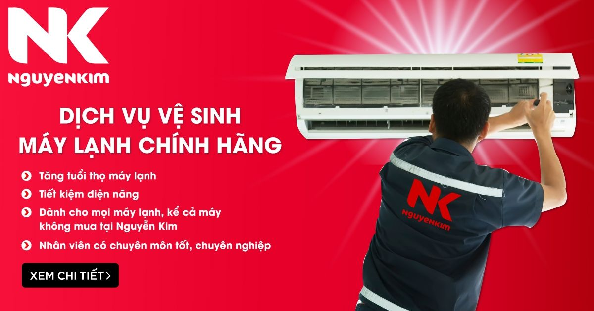 dịch vụ vệ sinh máy lạnh Nguyễn Kim