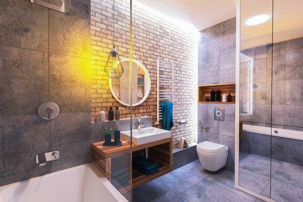 Phòng tắm nhà vệ sinh hiện đại