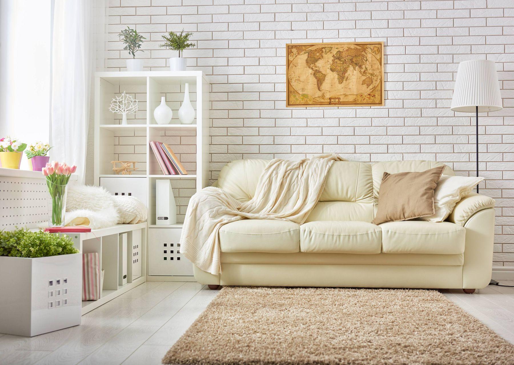 Phòng khách đẹp với thảm sạch thơm